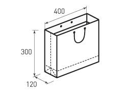 Горизонтальный бумажный пакет G400X300X120