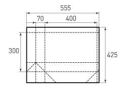 Горизонтальный бумажный пакет G400x300x140