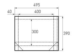Горизонтальный бумажный пакет G400x300x80