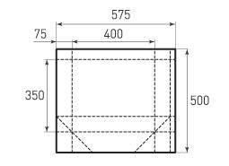 Горизонтальный бумажный пакет G400x350x150