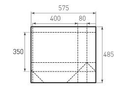 Горизонтальный бумажный пакет G400x350x160
