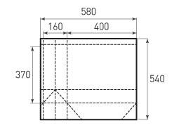 Горизонтальный бумажный пакет G400x370x160