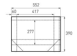 Горизонтальный бумажный пакет G417x277x120