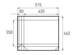 Горизонтальный бумажный пакет G420x350x80