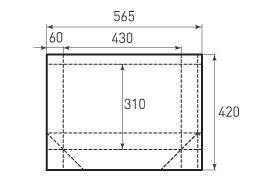 Горизонтальный бумажный пакет G430x310x120