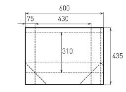 Горизонтальный бумажный пакет G430x310x150