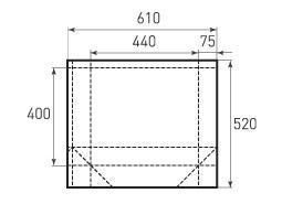 Горизонтальный бумажный пакет G440x400x150