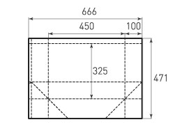 Горизонтальный бумажный пакет G450x325x200