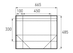 Горизонтальный бумажный пакет G450x330x200