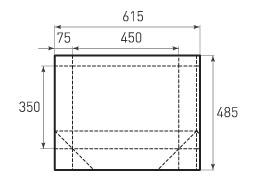 Горизонтальный бумажный пакет G450x350x150