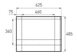 Горизонтальный бумажный пакет G460x360x150