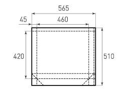 Горизонтальный бумажный пакет G460x420x90