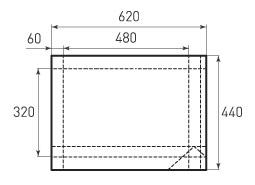 Горизонтальный бумажный пакет G480x320x120