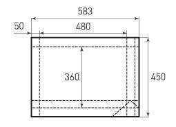 Горизонтальный бумажный пакет G480x360x100
