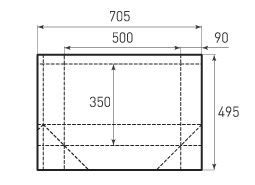 Горизонтальный бумажный пакет G500x350x180