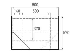 Горизонтальный бумажный пакет G500x370x280