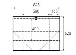 Горизонтальный бумажный пакет G500x400x330