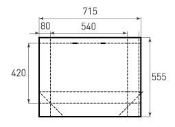 Горизонтальный бумажный пакет G540x420x160