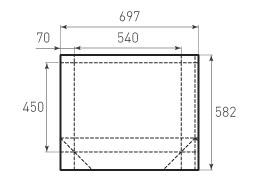 Горизонтальный бумажный пакет G540x450x140