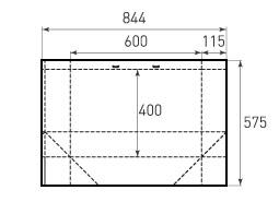 Горизонтальный бумажный пакет G600x400x230