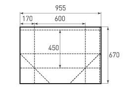Горизонтальный бумажный пакет G600x450x340