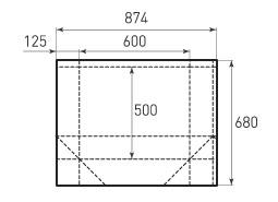 Горизонтальный бумажный пакет G600x500x250