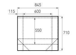 Горизонтальный бумажный пакет G600x550x230