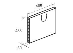 Горизонтальный бумажный пакет G605x433x30