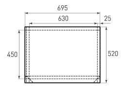 Горизонтальный бумажный пакет G630x450x50