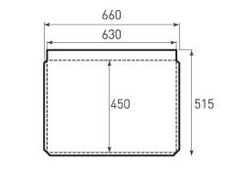 Горизонтальный бумажный пакет G630x450