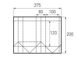 Вертикальный бумажный пакет V100x120x80