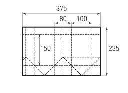 Вертикальный бумажный пакет V100x150x80