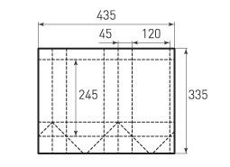 Вертикальный бумажный пакет V120x245x90