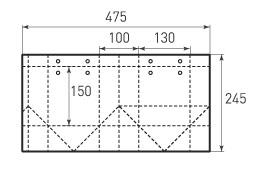 Вертикальный бумажный пакет V130x150x100