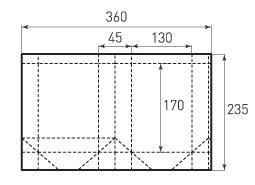Вертикальный бумажный пакет V130x170x45