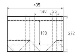 Вертикальный бумажный пакет V140x190x70