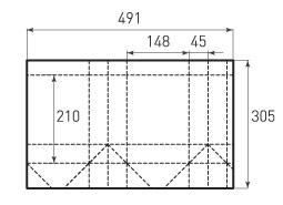 Вертикальный бумажный пакет V148x210x90