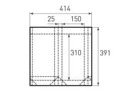 Вертикальный бумажный пакет V150x310x50