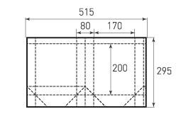 Вертикальный бумажный пакет V170x200x80