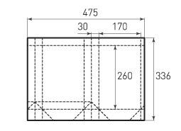 Вертикальный бумажный пакет V170x260x60