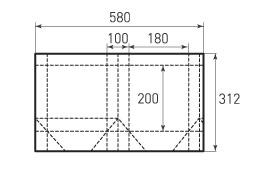 Вертикальный бумажный пакет V180x200x100