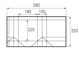 Вертикальный бумажный пакет V180x220x100