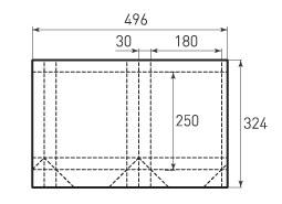 Вертикальный бумажный пакет V180x250x60