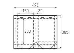 Вертикальный бумажный пакет V180x300x60