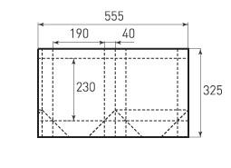Вертикальный бумажный пакет V190x230x80