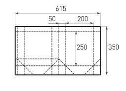 Вертикальный бумажный пакет V200x250x100