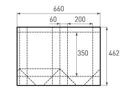Вертикальный бумажный пакет V200x350x120