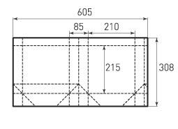 Вертикальный бумажный пакет V210x215x85