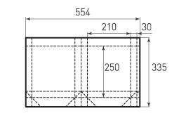 Вертикальный бумажный пакет V210x250x60