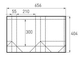 Вертикальный бумажный пакет V210x300x110